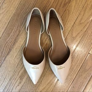 Coach Leather Pointy Toe Flats